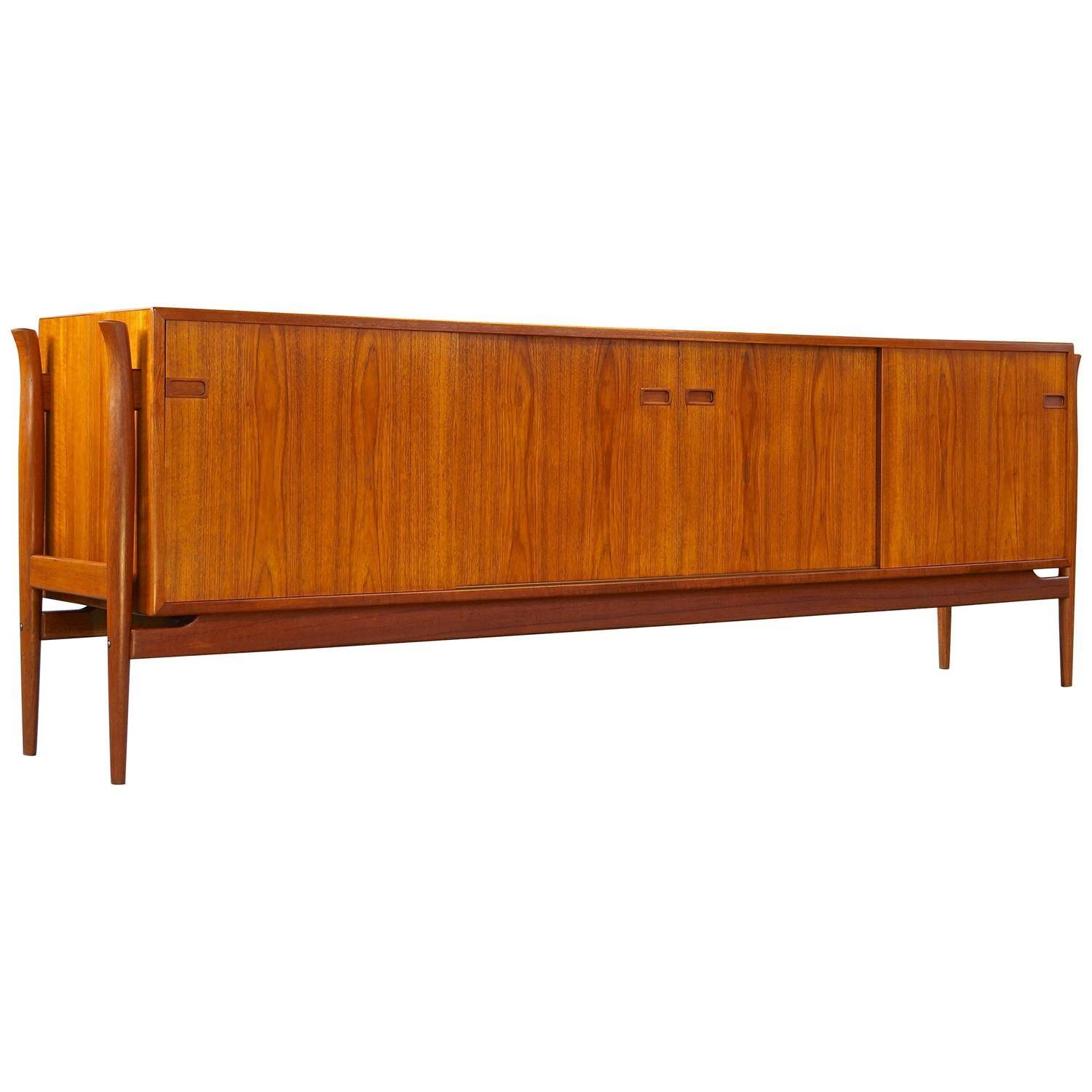 Vintage Danish Teak Sideboard Or Credenza, Extra Long And Low Regarding Long Low Sideboards (View 14 of 15)