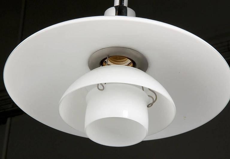Vintage Ph 3/2 Chromed Pendant Lightpoul Henningsen For Louis Intended For 2017 Louis Poulsen Pendant Lights (#15 of 15)