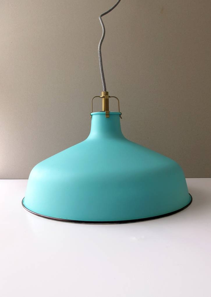 Inspiration about Vintage Style Pendant Lamp Diy Inside Aqua Pendant Light Fixtures (#15 of 15)