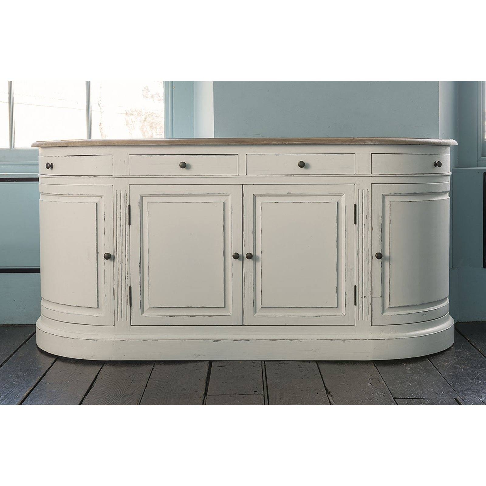 Inspiration about Vintage White Empire Curved Sideboard Within Curved Sideboards (#2 of 15)