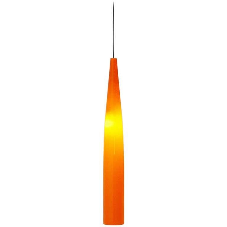 Inspiration about Vistosi Alessandro Pianon Pendant Lamp In Orange Glass 1960 At 1Stdibs With Regard To Newest Orange Pendant Lamps (#8 of 15)