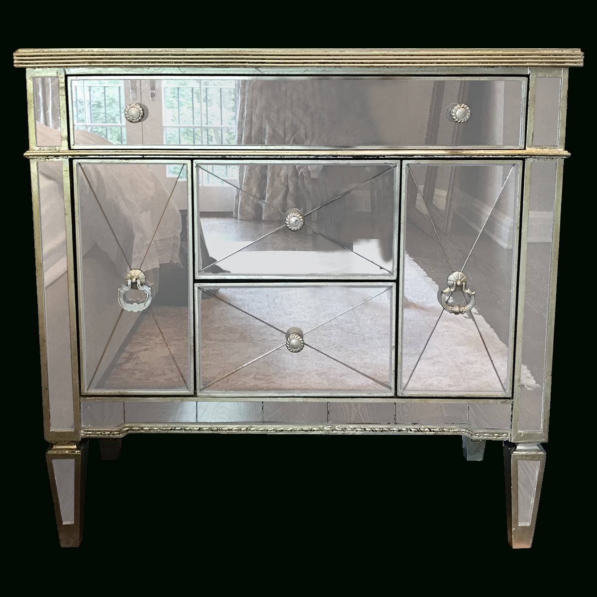 Viyet – Designer Furniture – Storage – Horchow Amelie Small In Small Mirrored Sideboards (View 5 of 15)