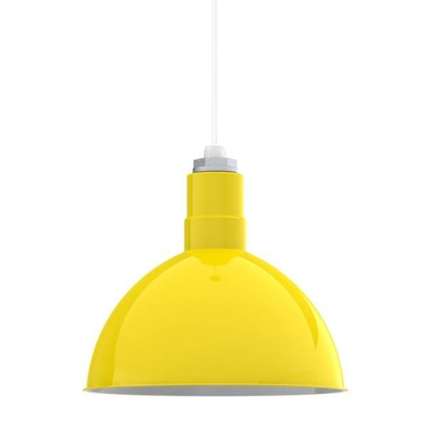 Wesco Cord Hung Pendant, Deep Bowl Shade | Barn Light Electric Within Most Current Yellow Pendant Lights (#10 of 15)