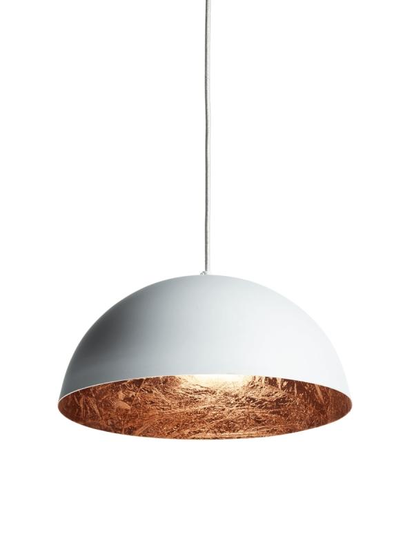 White & Copper Pendant Light Throughout Recent Copper Pendant Lights (#15 of 15)