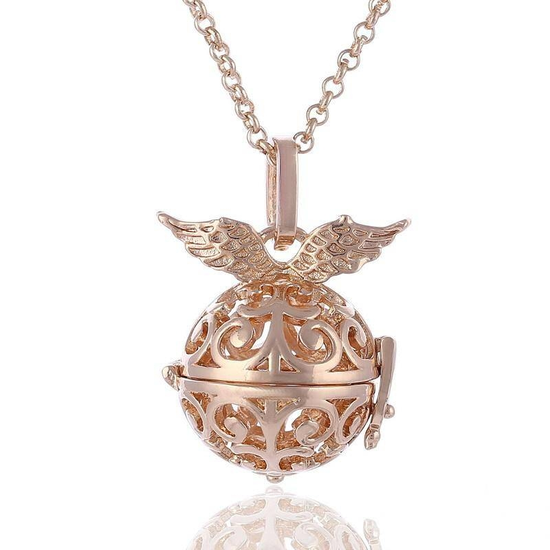 Wholesale Harmony Ball Sterling Silver Plating Angel Ball In In Most Up To Date Gold Ball Pendants (#13 of 15)