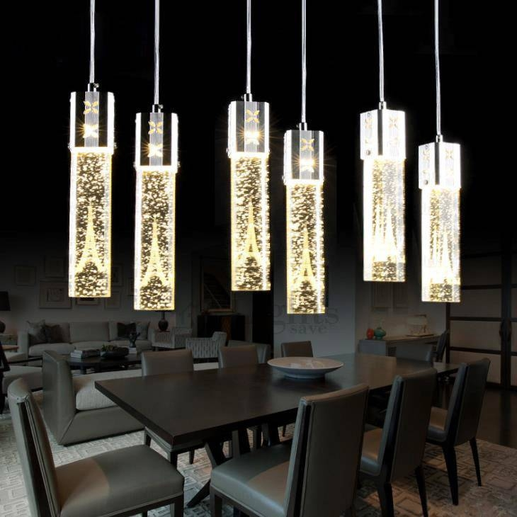 Wholesale Tower Pattern Crystal Led Pendant Lighting Regarding Newest Crystal Led Pendant Lights (View 3 of 15)