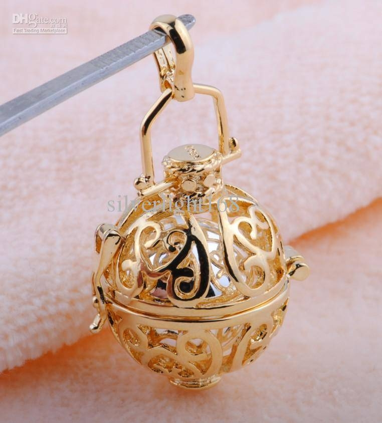 Wholesale Wholesale 925 Sterling Silver Harmony Ball Sound Pendant Inside Most Current Gold Ball Pendants (#15 of 15)
