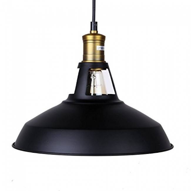 Winsoon Modern Industrial Loft Bar Ceiling Light Metal Pendant Pertaining To Best And Newest Modern Pendant Lamp Shades (#15 of 15)