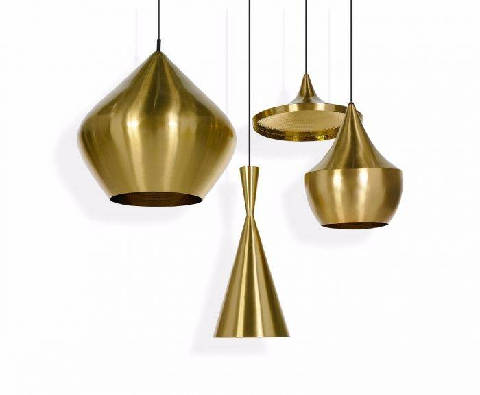 Wonderful Brass Pendant Light Beat Fat Brushed Pendant Pendant Pertaining To Best And Newest Tom Dixon Brass Pendants (#15 of 15)
