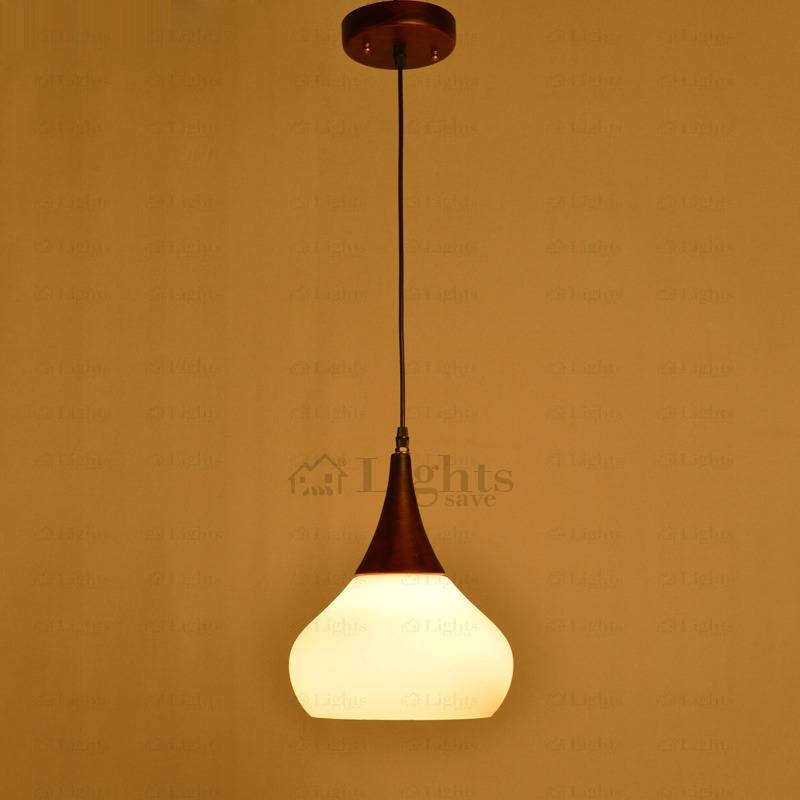 Wooden Fixture And Glass Shade Classic Small Pendant Lights Inside 2017 Classic Pendant Lights (#15 of 15)