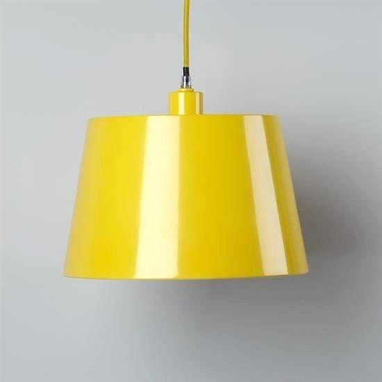 Yellow Pendant Light Shade With Pureauthentics General Within Best And Newest Yellow Pendant Lights (#13 of 15)