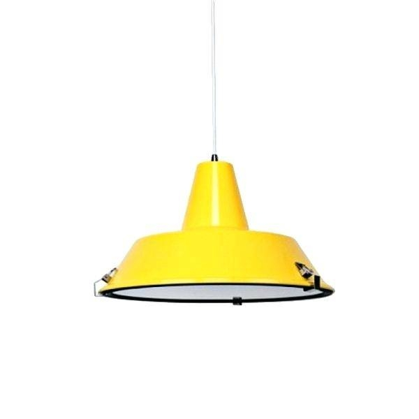 Yellow Pendant Lights For Kitchen Luminous Industrial Light Uk Pertaining To Most Current Yellow Pendant Lights (#15 of 15)