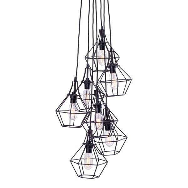 Zuo Modern Palmerston Caged Multi Bulb Pendant Lamp At Modernist In Most Recently Released Multi Bulb Pendants (#15 of 15)