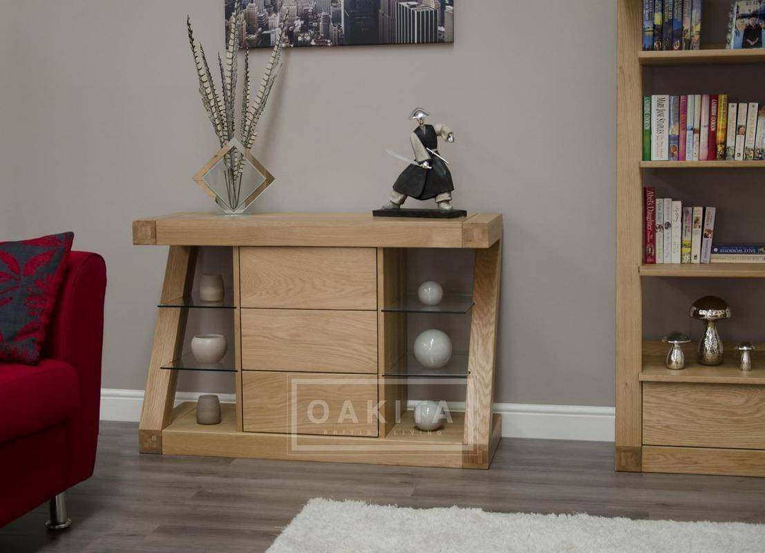 Inspiration about Zurich Small Oak Modern Sideboard – Oak Sideboards – Oak Furniture With Oak Sideboards Uk (#10 of 15)