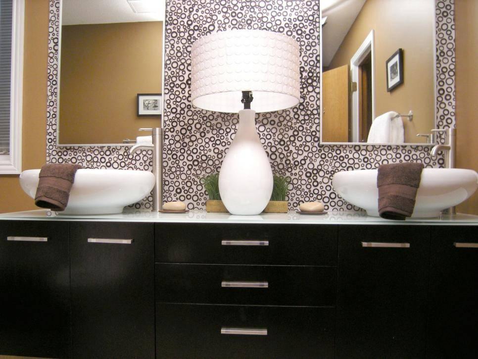 10 Beautiful Bathroom Mirrors | Hgtv Inside Wall Mirrors For Bathroom Vanities (#1 of 15)