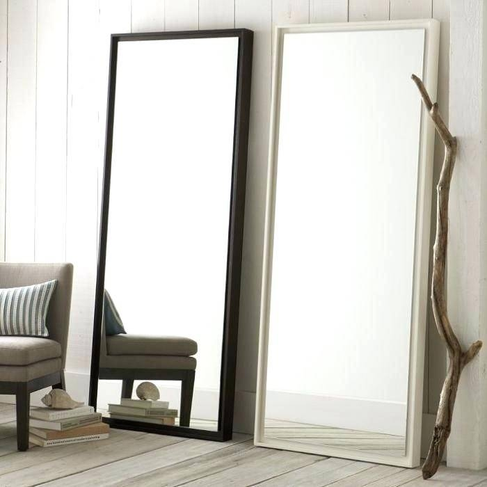 10 Easy Pieces Leaning Floor Mirrors Wall Mirror For Powder Room Within Leaning Wall Mirrors (#1 of 15)