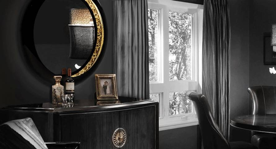 10 Stunning Black Wall Mirror Ideas To Decorate Your Home Within Black Decorative Wall Mirrors (#1 of 15)
