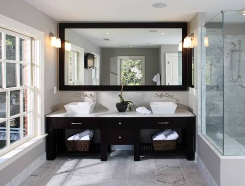 10 Stylish Ideas Using Bathroom Mirrors With Regard To Large Black Wall Mirrors (#1 of 15)