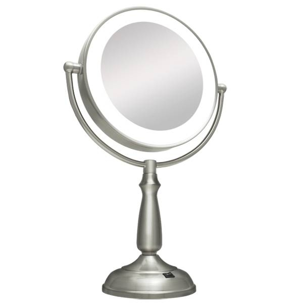 10X / 1X Super Bright Led Lighted Vanity Magnifying Mirror Throughout Magnified Vanity Mirrors (#1 of 15)