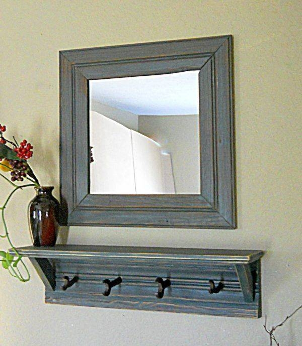 Popular Photo of White Wall Mirrors With Hooks