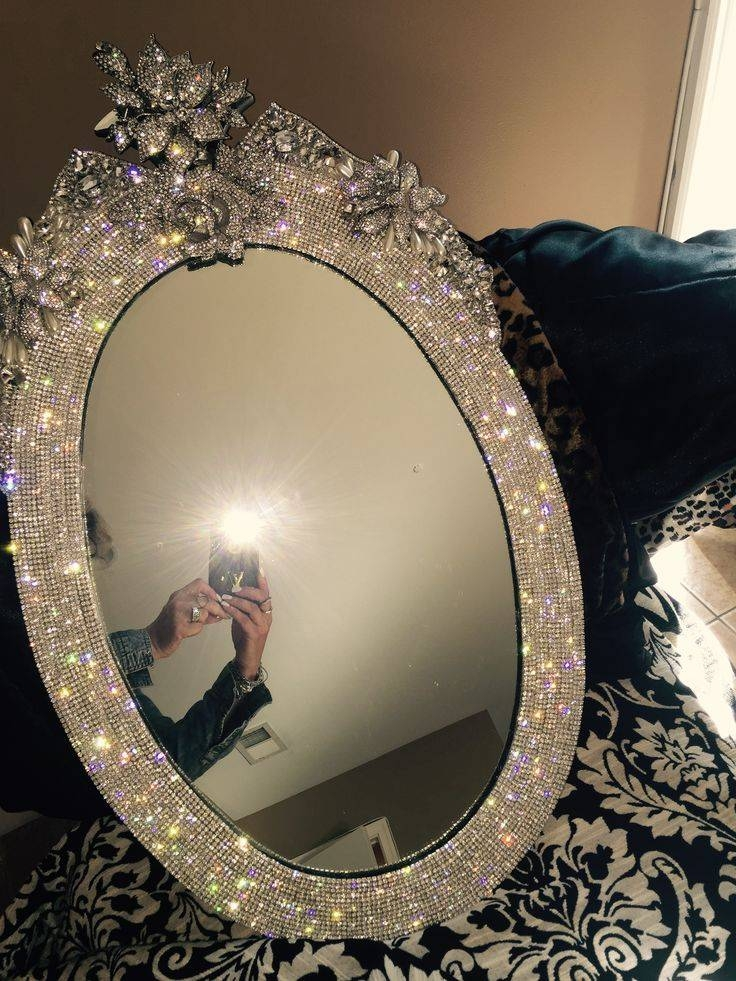 Inspiration about 124 Best Bling For Your Home.made To Order On Etsy Within Rhinestone Wall Mirrors (#3 of 15)