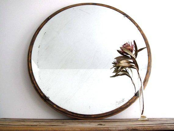 15 Best Vintage Mirrors Images On Pinterest | Vintage Mirrors With Regard To Round Wood Framed Mirrors (#2 of 15)