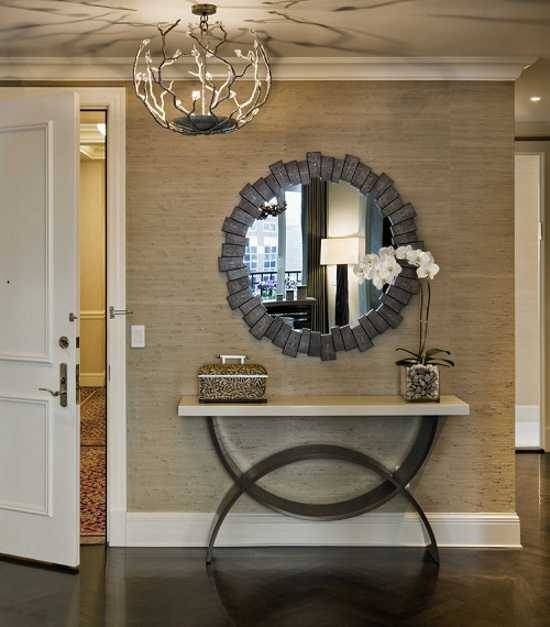 15 Gorgeous Entryway Designs And Tips For Entryway Decorating Within Entry Wall Mirrors (#1 of 15)