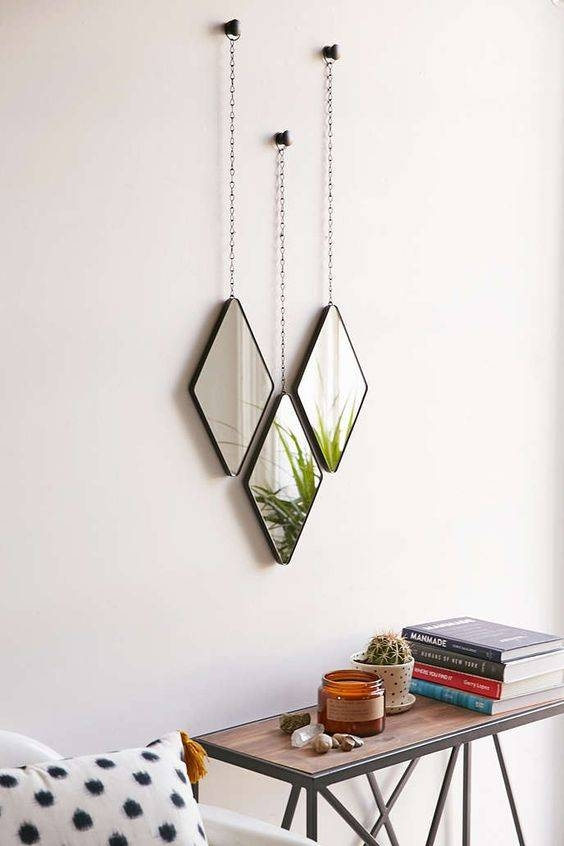 Inspiration about 16 Stylish Ways To Decorate With Mirrors With Small Diamond Shaped Mirrors (#2 of 15)