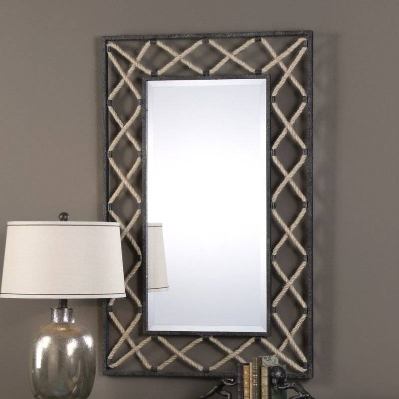 17 Stories Contemporary Black Wall Mirror & Reviews | Wayfair Intended For Contemporary Black Wall Mirrors (#1 of 15)