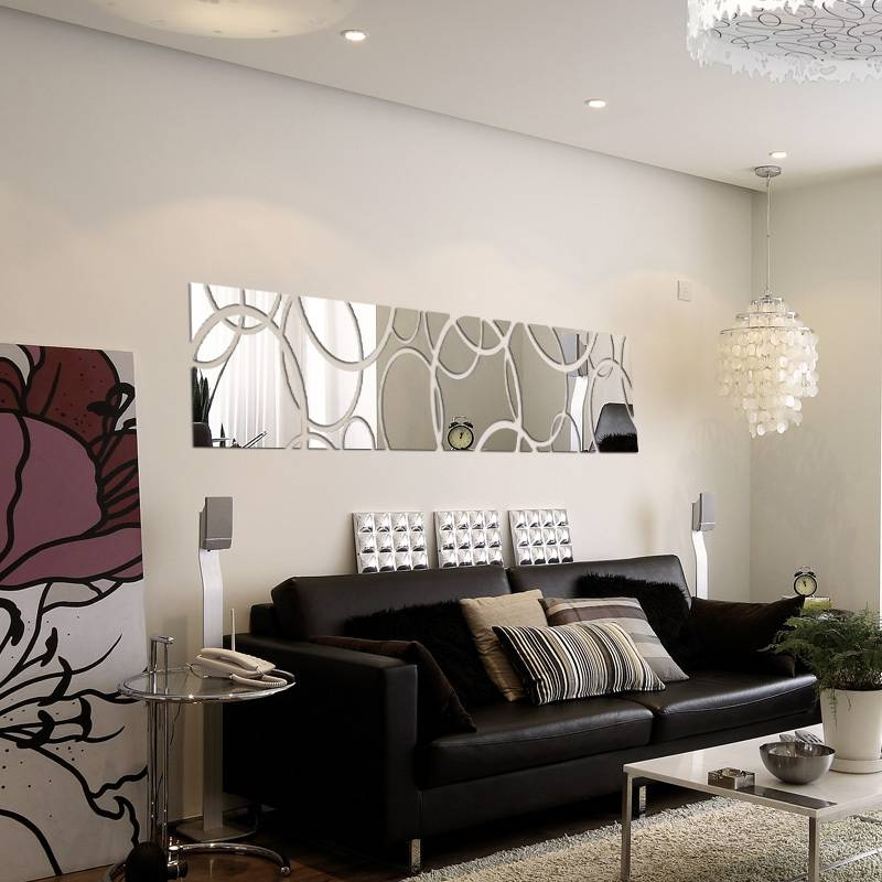 Inspiration about 2015 New Hot Large Acrylic Mirror Wall Stickers 3D Sticker Home For Wall Mirror Decals (#2 of 15)