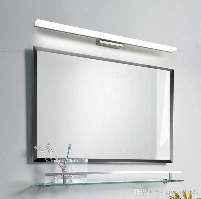 2018 Bathroom Mirror Light Led Wall Light Mirror Front Makeup Led With Regard To Light Wall Mirrors (#1 of 15)