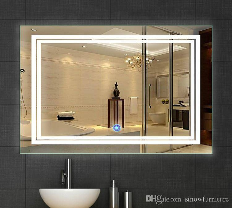2018 Led Bathroom Mirror 24 Inch X 36 Inch | Lighted Vanity Mirror Within Lighted Vanity Mirrors For Bathroom (#1 of 15)