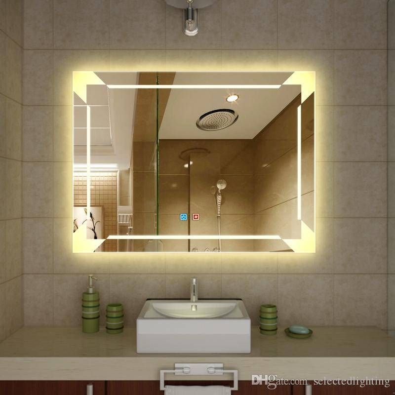 Popular Photo of Large Lighted Bathroom Wall Mirrors