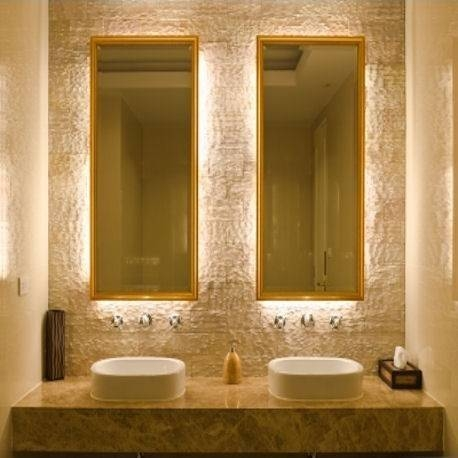 226 Best Bathroom Designs Images On Pinterest With Backlit Wall Mirrors (#2 of 15)