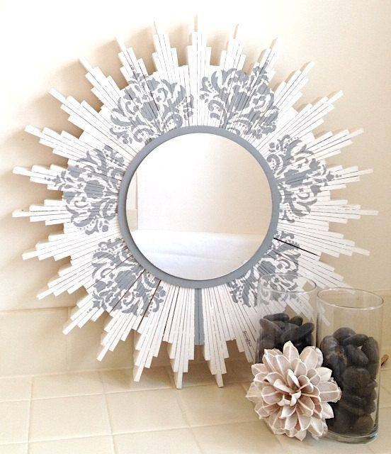 23 Best Sunburst Wall Mirror Images On Pinterest | Wall Mirrors Pertaining To Damask Mirrors (#3 of 15)