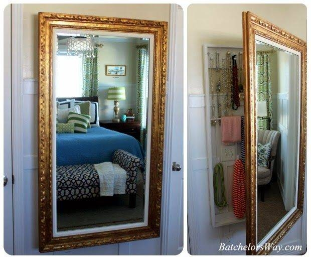 25+ Unique Diy Jewelry Mirror Ideas On Pinterest | Diy Jewelry Pertaining To Jewelry Wall Mirrors (View 1 of 15)