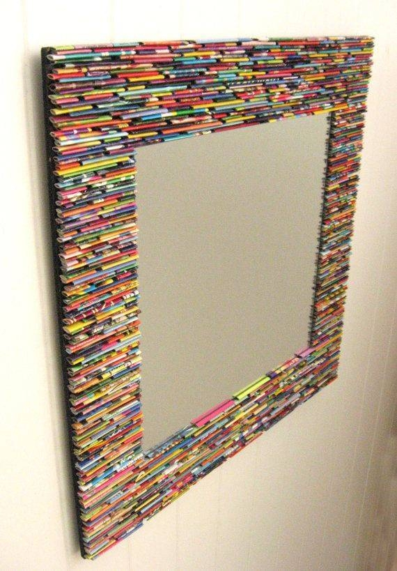 Inspiration about 25+ Unique Rolled Magazine Art Ideas On Pinterest | Magazine Art With Regard To Colorful Wall Mirrors (#4 of 15)