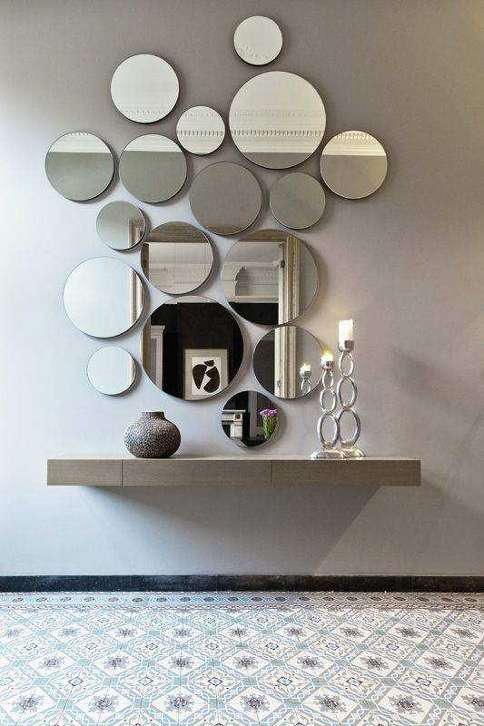 Inspiration about 27 Gorgeous Wall Mirrors To Make A Statement – Digsdigs Within Modern Decorative Wall Mirrors (#2 of 15)