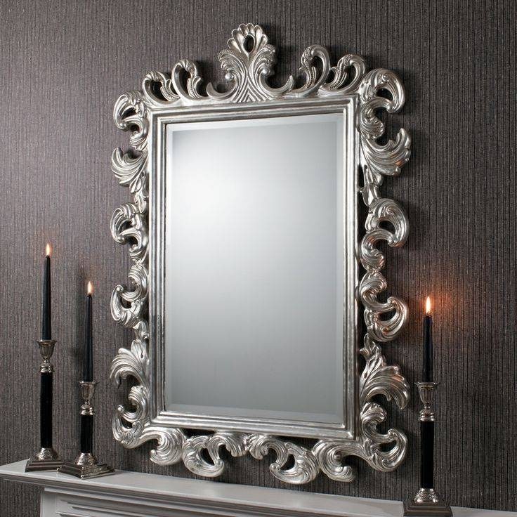28 Best Modern Wall Mirrors Images On Pinterest | Modern Wall In Large Silver Framed Wall Mirror (#3 of 15)