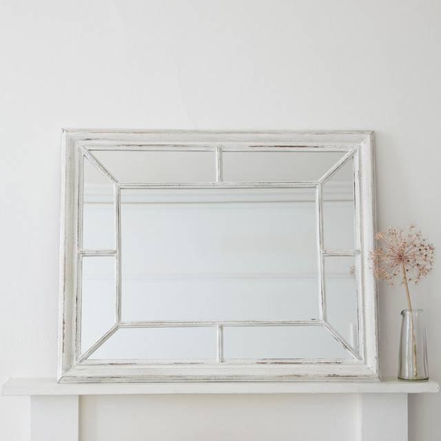 28+ [ Distressed White Wall Mirror ] | White Mirror Painted Throughout Distressed White Wall Mirrors (#1 of 15)