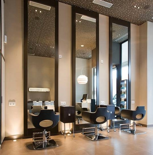280 Best Hair Saloon Images On Pinterest   Beauty Salons, Salon Intended For Salon Wall Mirrors (View 5 of 15)