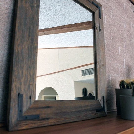 29 Beautiful Reclaimed Wood Mirrors Throughout Timber Mirrors (View 9 of 15)
