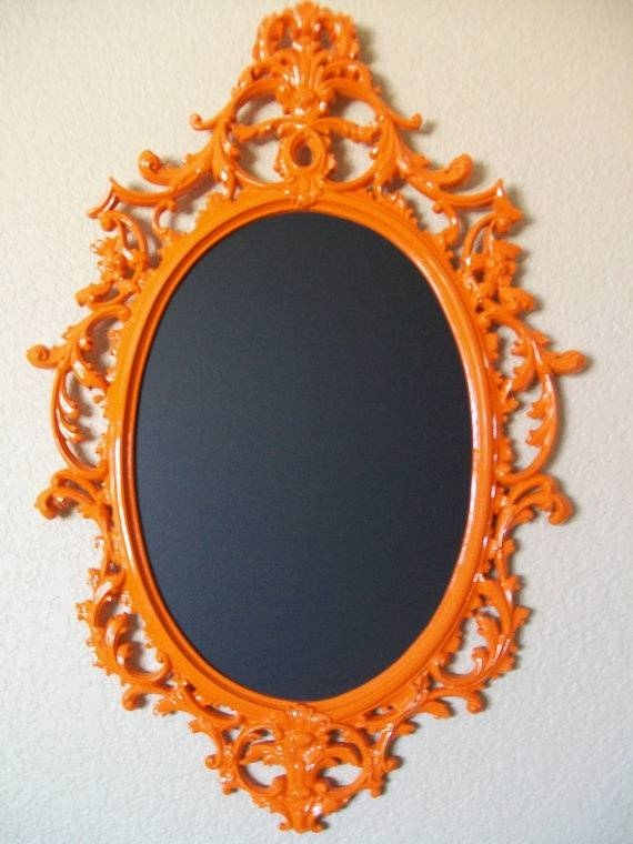 Inspiration about 29 Best Frames Images On Pinterest | Crafts, Ideas And Mirror Mirror With Orange Framed Wall Mirrors (#1 of 15)