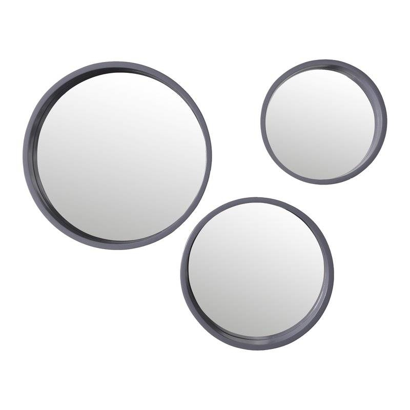 Inspiration about 3 Piece Denise Round Wall Mirror Set & Reviews | Joss & Main For Round Wall Mirror Sets (#14 of 15)