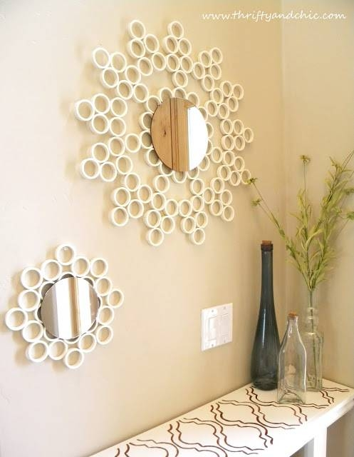 30 Amazing Diy Decorative Mirrors – Pretty Handy Girl Throughout Diy Wall Mirrors (#7 of 15)