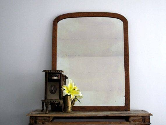 30 Best Vintage Beveled Glass Mirrors Images On Pinterest | Glass Throughout Vintage Wood Mirrors (#2 of 15)