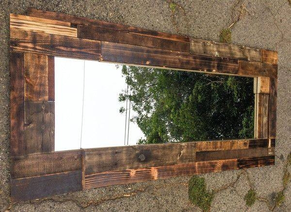 Inspiration about 306 Best Mirrors Images On Pinterest | Mirrors, Diy And Barn Wood For Natural Wood Framed Mirrors (#15 of 15)
