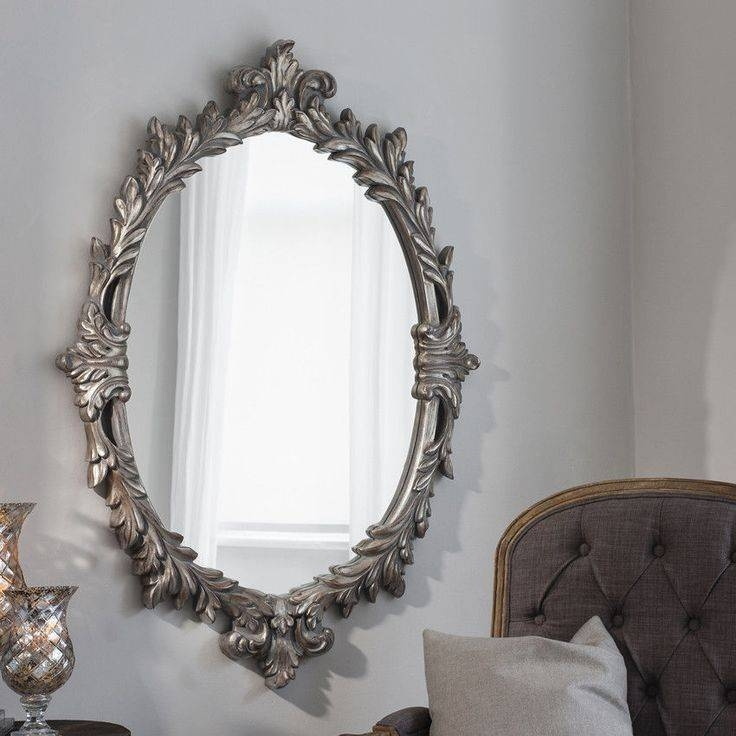 Inspiration about 33 Best Mirrors Images On Pinterest | Wall Mirrors, Free Delivery Pertaining To Silver Leaf Wall Mirrors (#9 of 15)