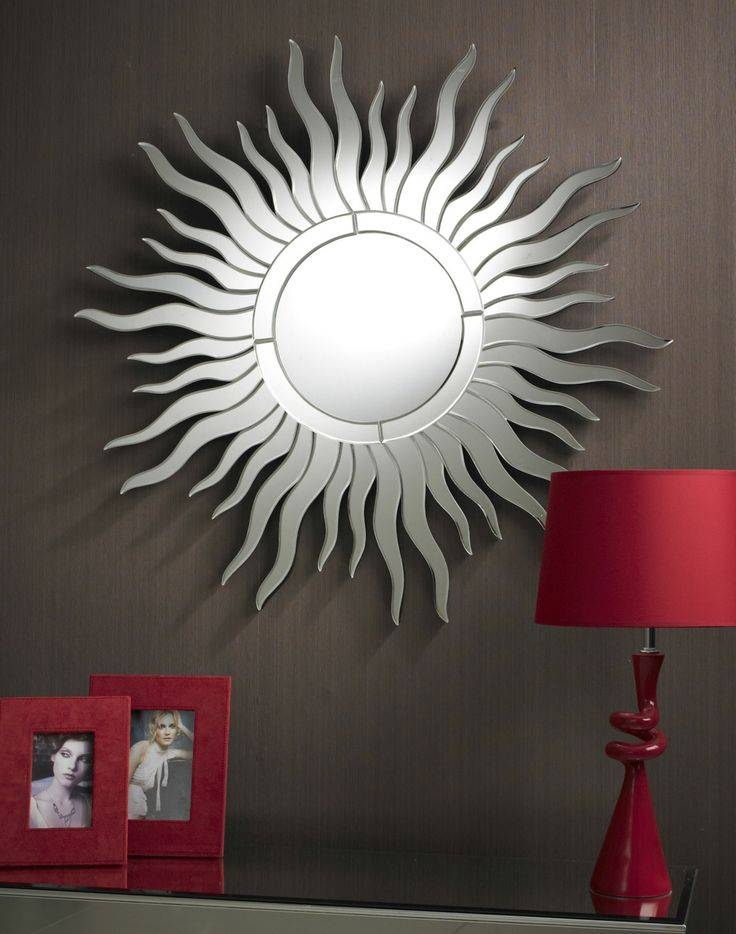 Inspiration about 35 Best Round Mirrors Images On Pinterest | Round Mirrors, Clear For Sun Ray Wall Mirrors (#9 of 15)
