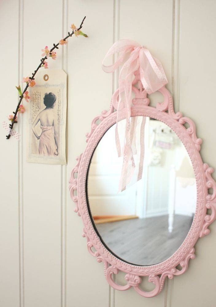 Inspiration about 38 Best Mirror For Sunshine Images On Pinterest | Girl Rooms For Girls Pink Wall Mirrors (#5 of 15)